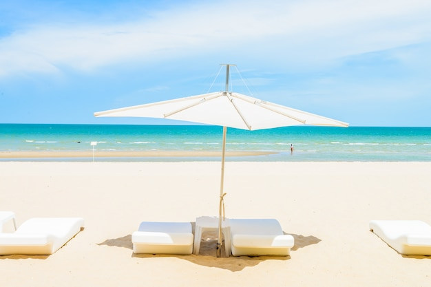 Umbrella and chair on the beach