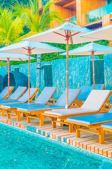 Umbrella and chair pool