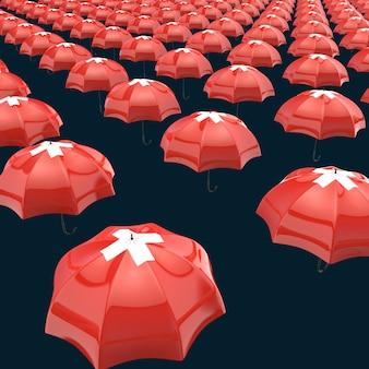 Umbrella concept - 3d illustration