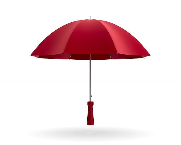 白い背景の上の傘。分離された3dイラスト
