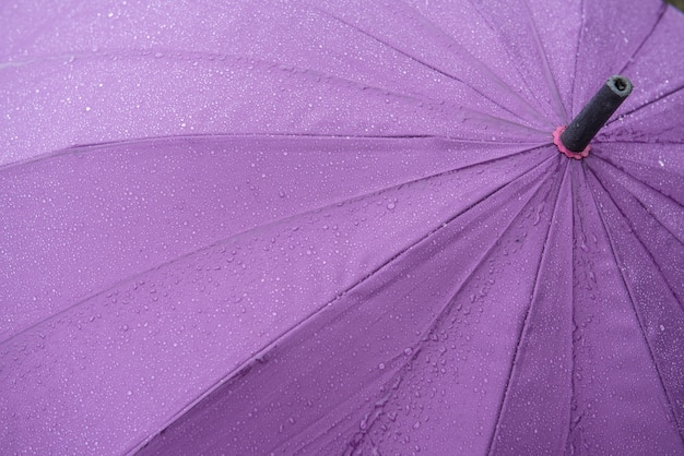 Umbrella with raindrops for background.