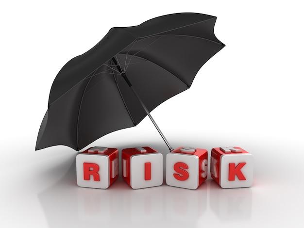 Umbrella with risk blocks