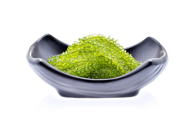 Umi-budou, grapes seaweed or green caviar isolated on white background