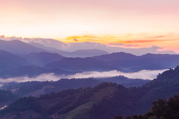 Umphang city in the morning, tak province, thailand