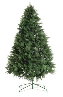 흰색 표면에 고립 된 꾸밈없는 크리스마스 트리