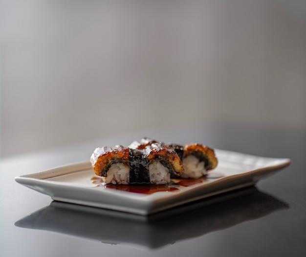 우나기 스시 초밥, 일식, 선택적 포커스