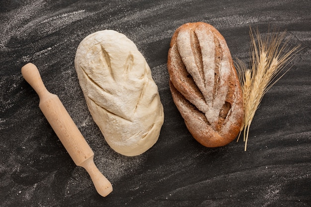 Unbaked and baked bread