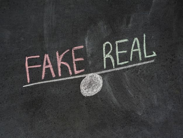 アンバランスな偽物と実際のニュース