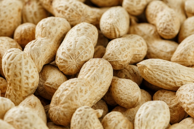 Uncleaned inshell peanuts.