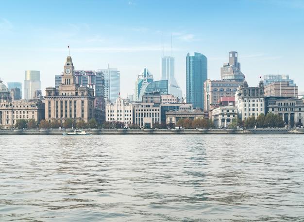 黄浦区、上海の外und都市のパノラマビュー