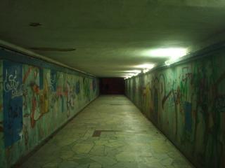 Underpass at night  dark