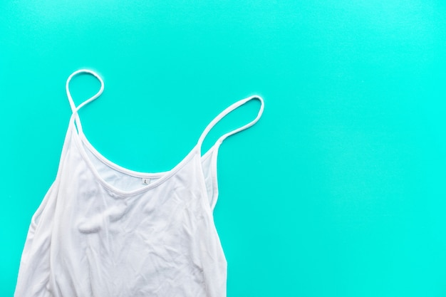 Undershirt on pastel color background