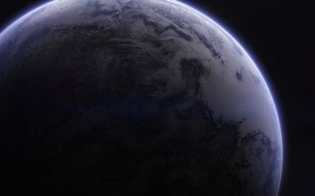Неизведанные планеты далекого космоса. изображение глубокого космоса, фантастическая фантастика в высоком разрешении идеально подходит для обоев и печати. элементы этого изображения, предоставленные наса Premium Фотографии
