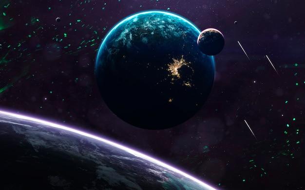 Неизведанные планеты далекого космоса. Premium Фотографии