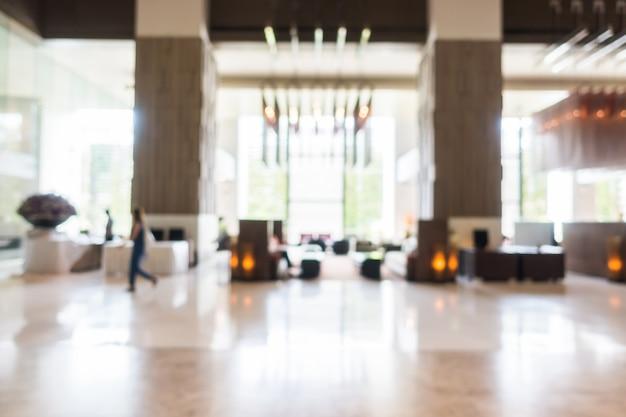 Unfocused background of modern lobby