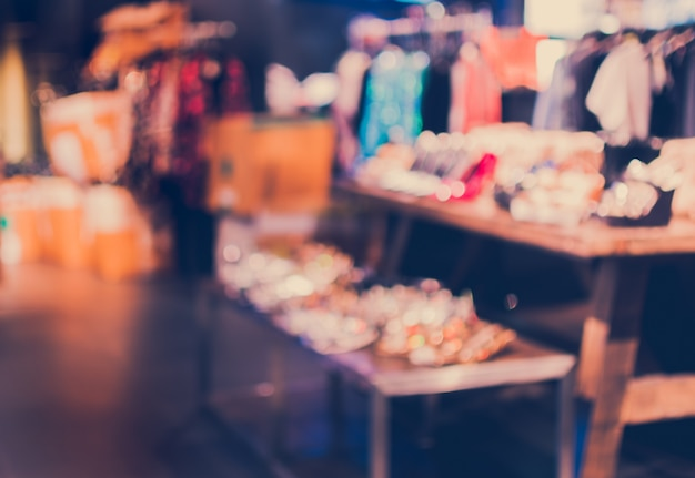 Unfocused background of shoes store