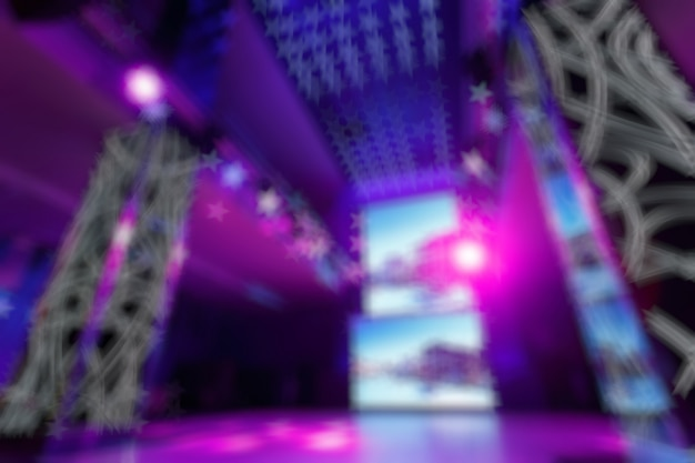 Unfocused entry disco colors