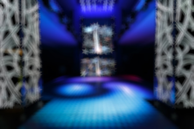 Unfocused entry disco with blue predominating