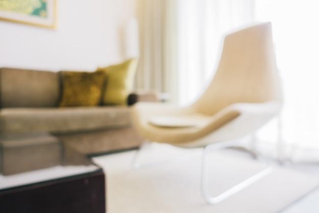 갈색 의자 산만 된 거실