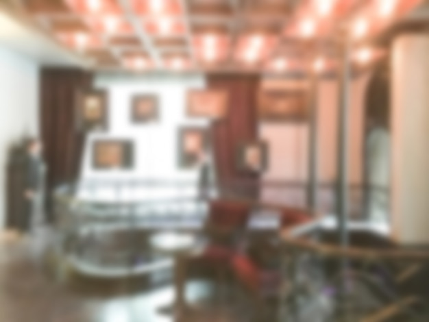 Unfocused room with frames