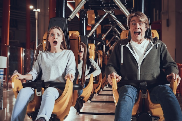 Unforgettable moments in amusement park.