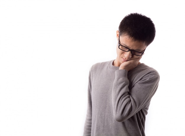不幸うつ病悲しい問題の痛み