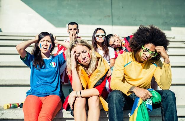 Unhappy sport fans