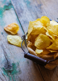 Unhealth food - potato chips