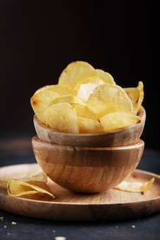 Unhealthy potato chips