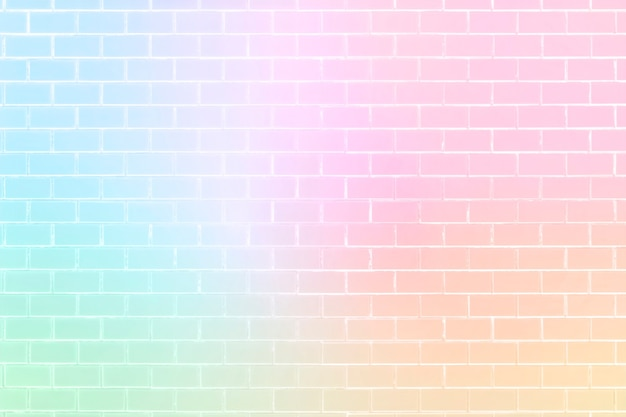 Unicorn color brick wall pattern background