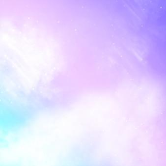 Unicorn galaxy pattern. rainbow clouds and sky with glitter.