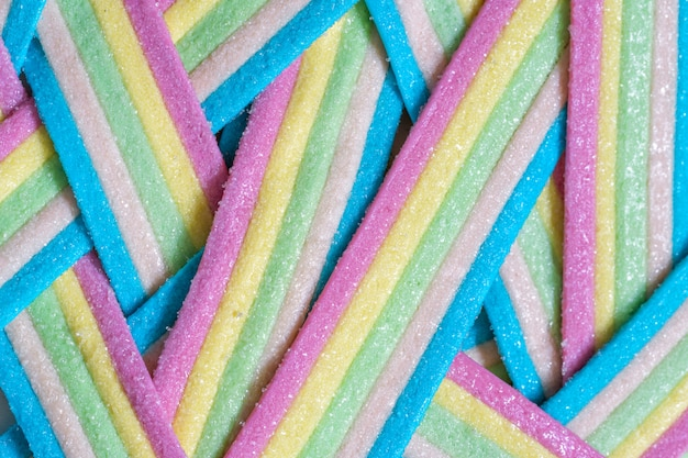 Unicorn rainbow candy stripes