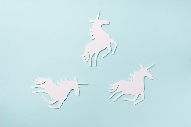 Unicornon blue background