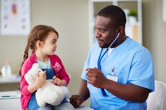 Uniform child little doctor physician