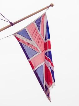 영국 (uk)의 유니온 잭 국기 - 흰색 배경 위에 절연