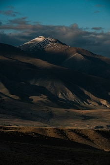The unique landscape of the martian mountains in summer in altai.