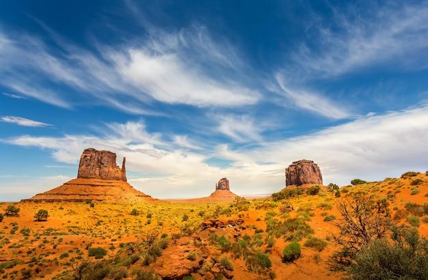 Unique landscape of monument valley