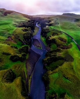 アイスランドのfjadrargljufurのユニークな風景。