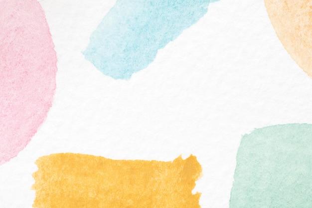 종이 질감에 독특한 수채화 예술
