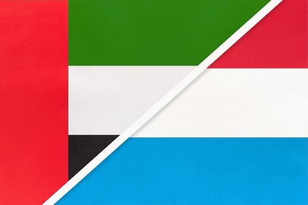 Объединенные арабские эмираты и люксембург, символ национальных флагов