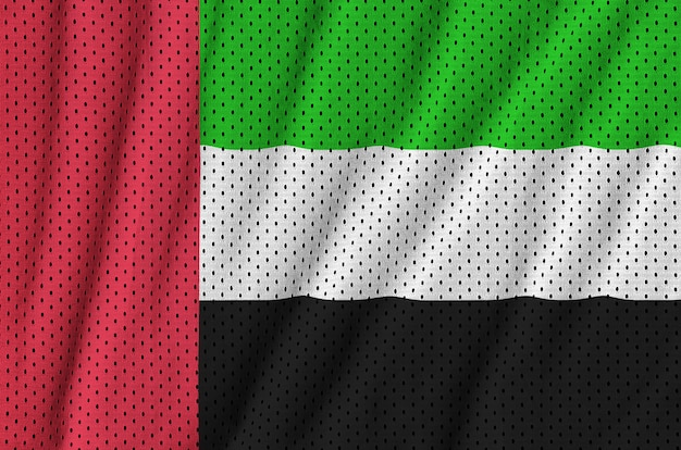 United arab emirates flag printed on a polyester nylon mesh