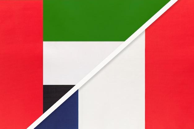 United arab emirates france, symbol of national flags