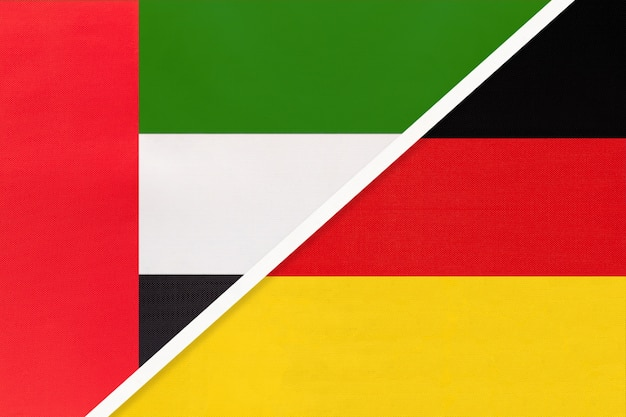 United arab emirates and germany, symbol of national flags