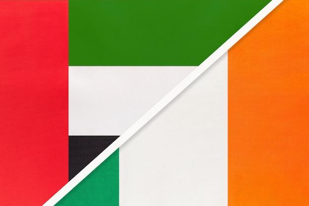 United arab emirates and ireland, symbol of national flags