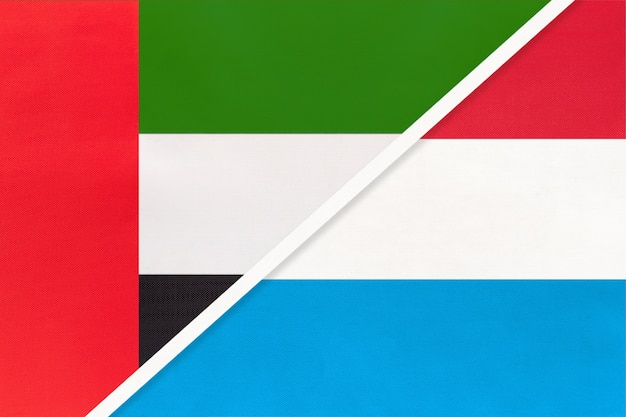 United arab emirates and luxembourg, symbol of national flags