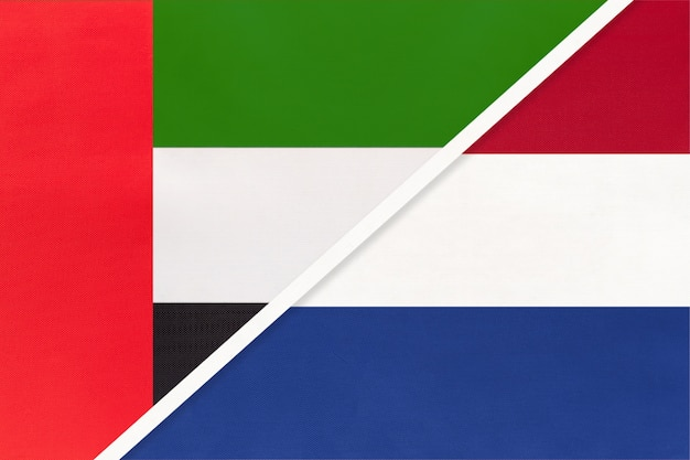 United arab emirates and netherlands, symbol of national flags