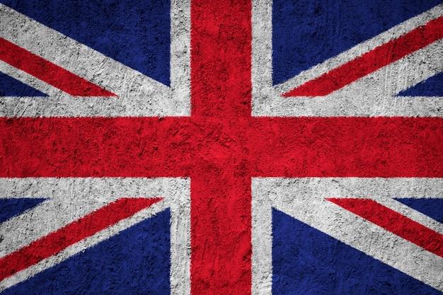 United kingdom flag painted on grunge wall