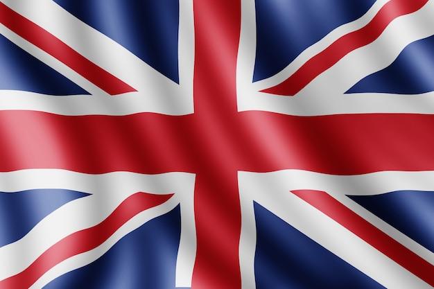 United kingdom flag, realistic illustration