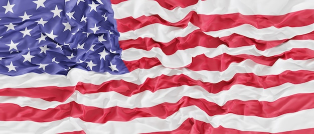 United states of america flag banner background, 3d render