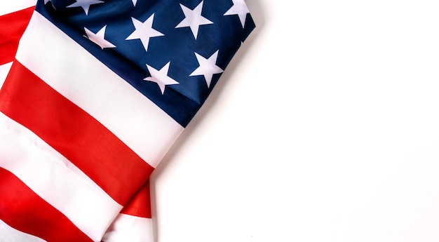 United states of american flag border isolated on white background